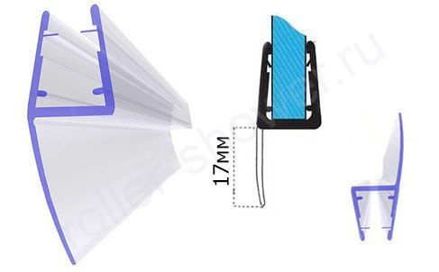 Серия-Ч Уплотнители для душевых кабин, толщина стекла (4,5,6,8мм) Длина 2,2 метра